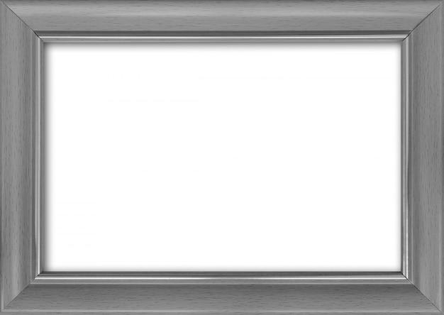 Cornice vuota con un posto libero dentro, isolato su bianco
