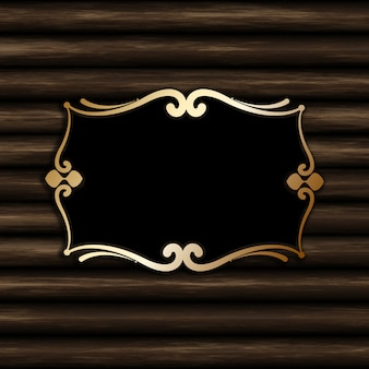Cornice vuota decorativa su uno sfondo di legno vecchio