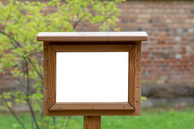 Cornice vuota mock up per messaggio di testo o contenuto.