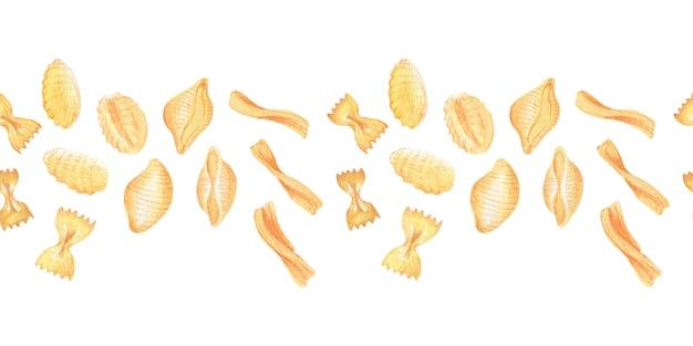 Cornici e bordi dell'acquerello pasta italiana