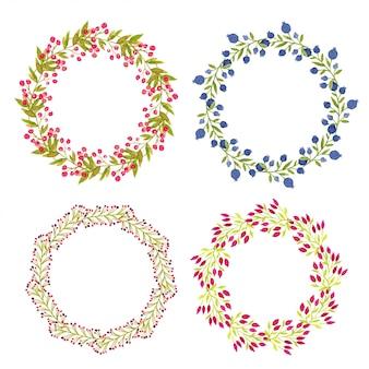 Corona di vernice mano acquerello per design pacchetto o carta di invito