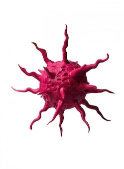 Coronavirus che vola a mezz'aria
