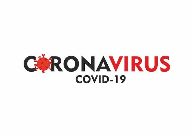 Coronavirus testo su sfondo bianco