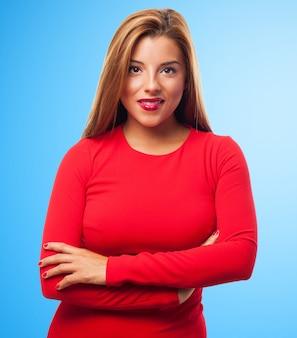 Corpo della donna di affari allegra sexy