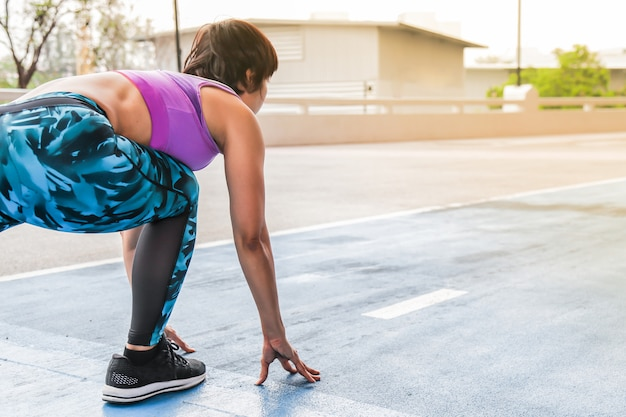 Correndo e avanzando verso il concetto di traguardo