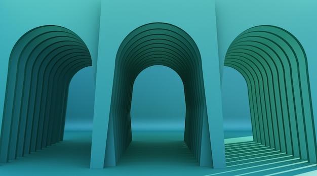 Corridoio ad arco minimalista