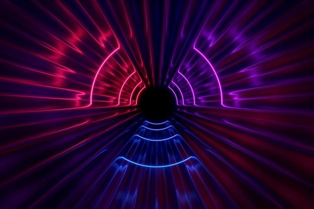 Corridoio futuristico di luci al neon