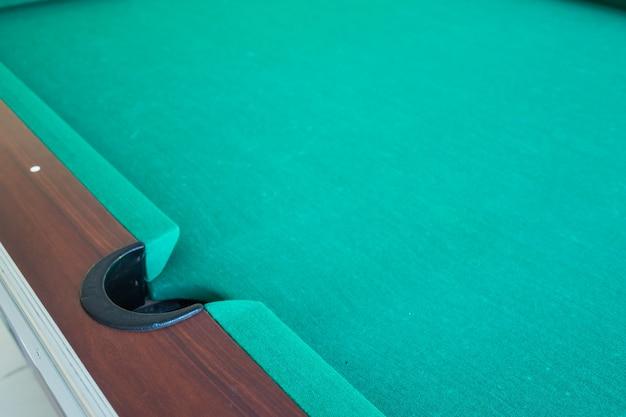 Corrner del foro per snooker da tavolo.