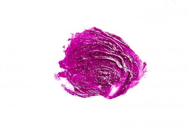 Cosmetici al rossetto. isolato. messa a fuoco selettiva tessitura di cosmetici