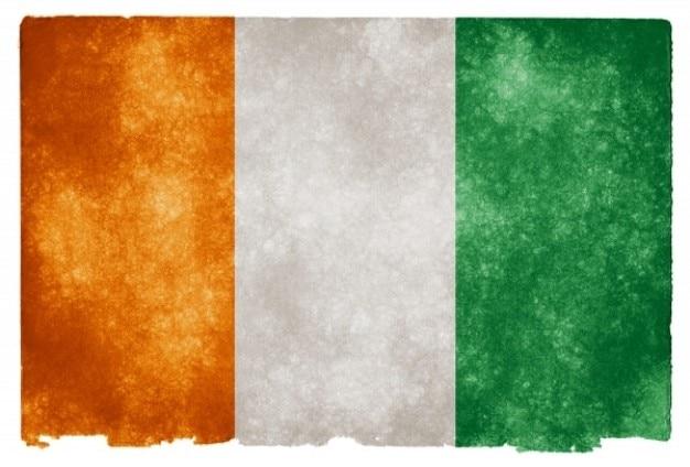 Costa d 'avorio grunge flag