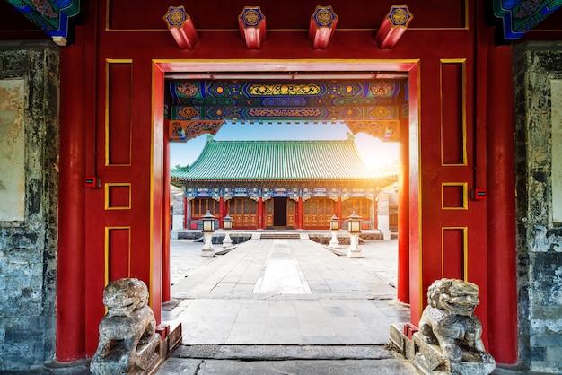 Costruzioni antiche a pechino, cina
