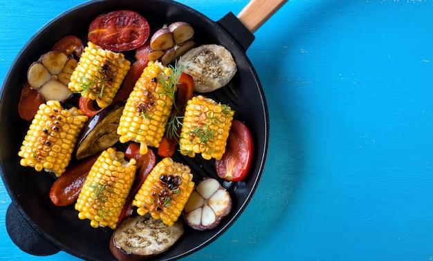 Cotto in padella mais e verdure