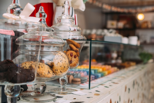 Counter in nice cafe