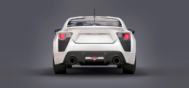 Coupé di piccola auto sportiva bianca. rendering 3d.