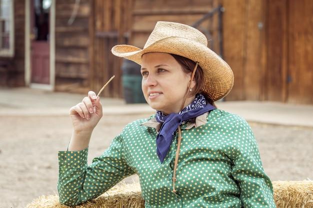 Cowgirl nel deserto