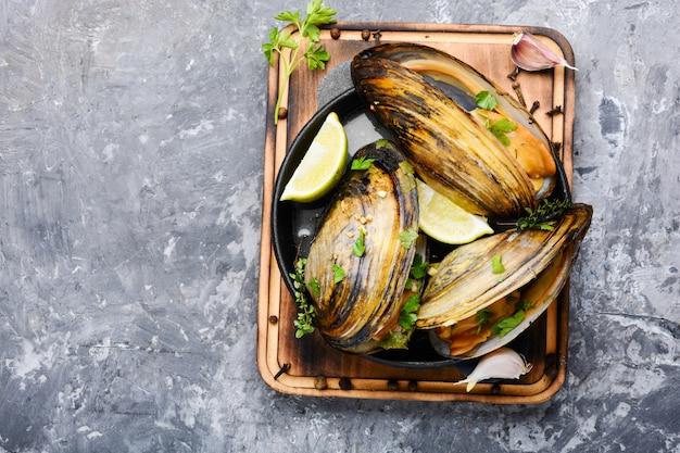 Cozze di mare deliziose