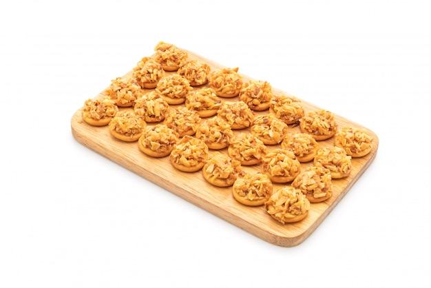 Cracker di durian essiccato
