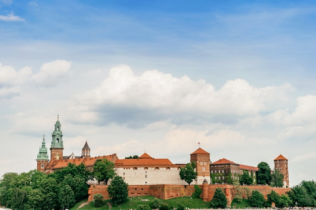 Cracovia, polonia - castello di wawel in estate