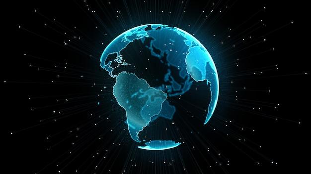 Crescente concetto di rete globale.
