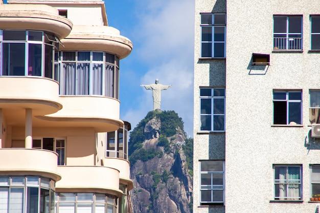 Cristo redentore a rio de janeiro, in brasile