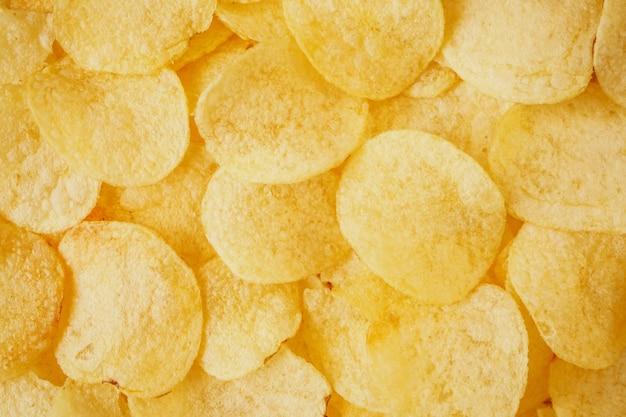 Croccante patatine fritte snack texture di sfondo