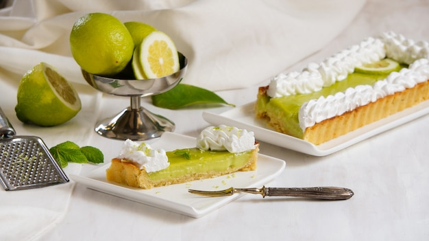 Crostata al lime e limone