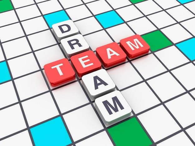 Cruciverba dream team con blocchi