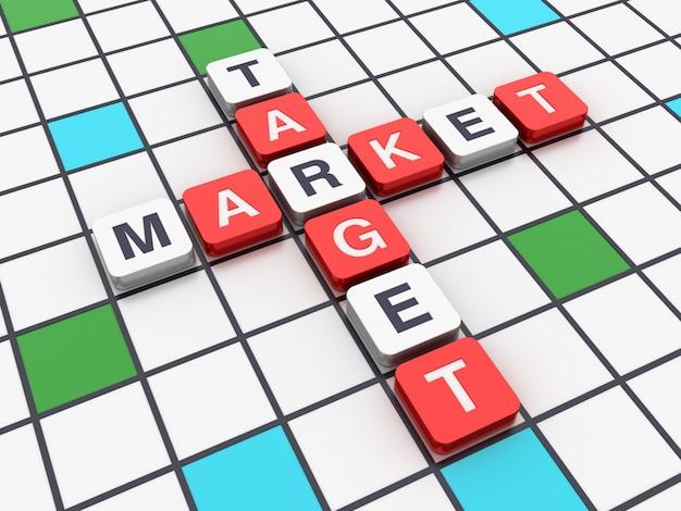 Cruciverba target di mercato da blocchi