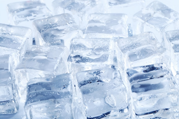 Cubetti di ghiaccio texture di sfondo