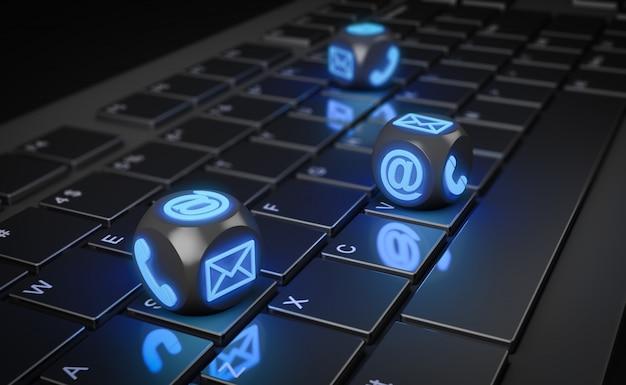 Cubi con icone sulla tastiera