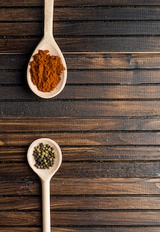 Cucchiai con spezie aromatiche