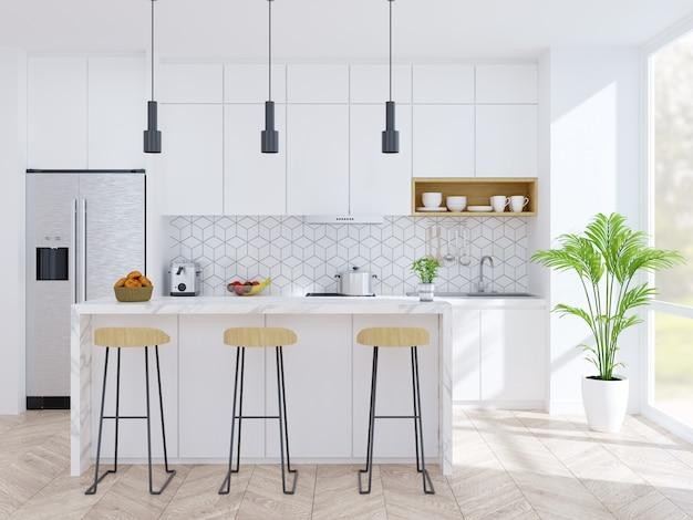 Cucina moderna e sala da pranzo