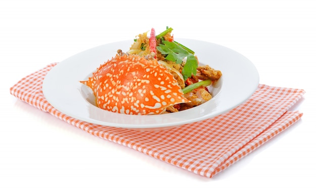 Cucina tailandese, granchio fritto con polvere di curry