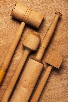 Cucina. utensile di legno
