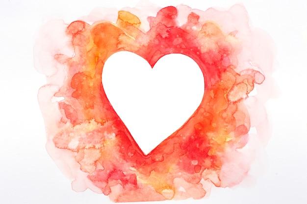 Cuore disegnato a mano in tonalità rosa e rosse, san valentino.