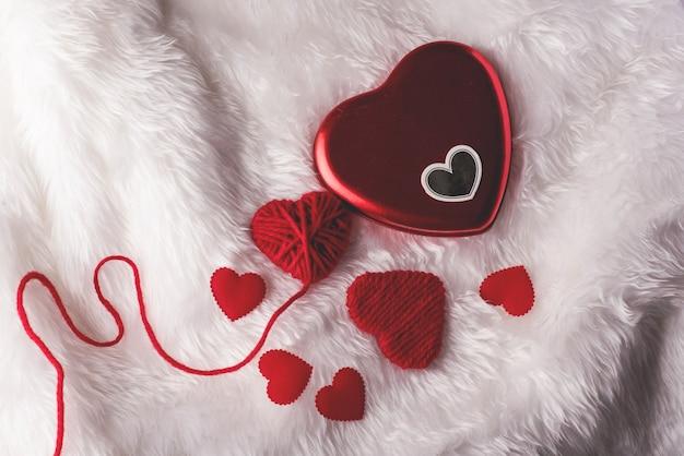 Cuore, giorno di san valentino, vista dall'alto, cuore rosso san valentino