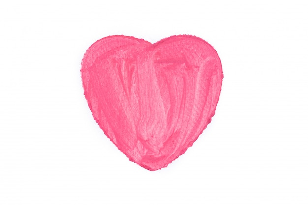 Cuore rosa dipinto