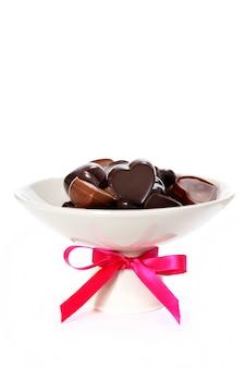 Cuori di cioccolato per san valentino