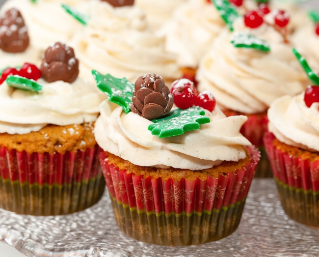 Cupcake di pan di zenzero per natale