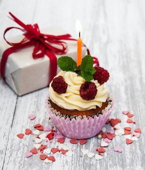 Cupcake e candela
