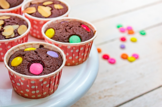 Cupcakes al cioccolato o cupcakes al cioccolato.