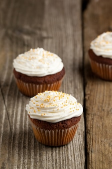 Cupcakes con panna montata