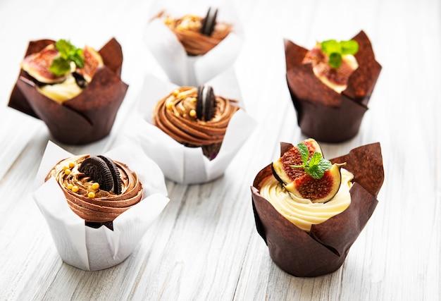 Cupkakes con fichi e cioccolato