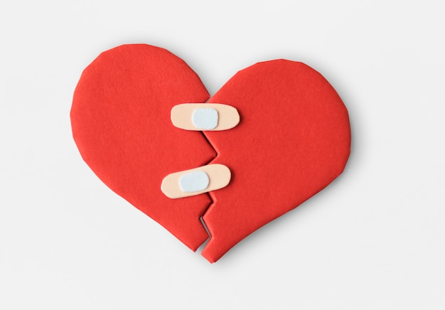 Cura di carta di cura di bendaggio heartbroken