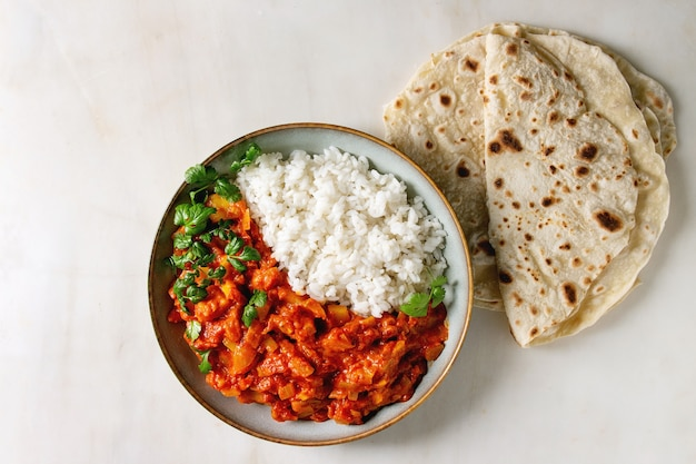 Curry di jackfruit vegano