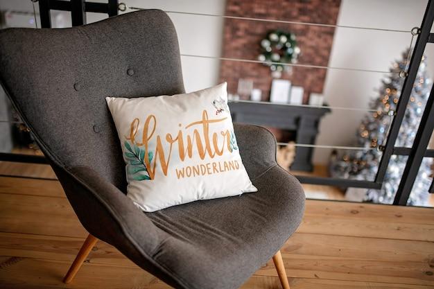 Cuscino decorato a natale