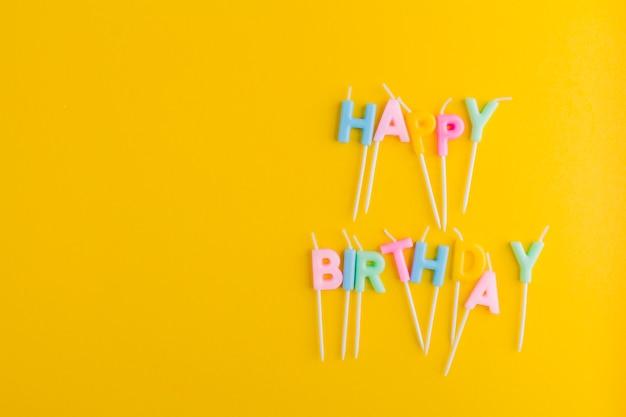 Cute candele a forma di lettera