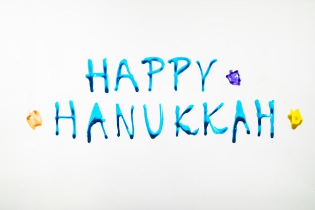 Cute happy hanukkah writing