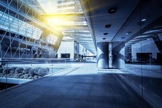 Da un grattacielo ad angolo basso nelle moderne città cinesi