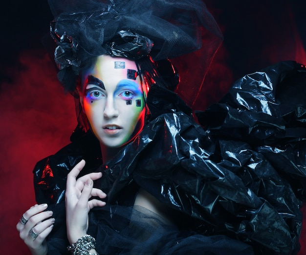 Dark beautiful gothic princess.